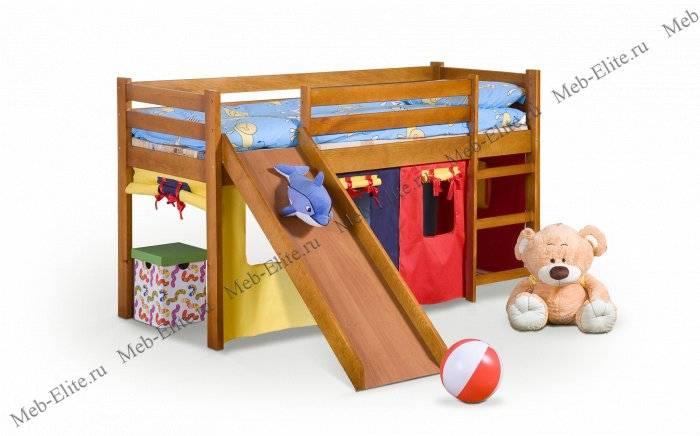 Детская кровать с горкой: виды, особенности, правила выбора