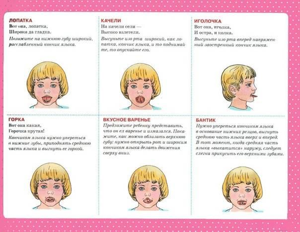Артикуляционная гимнастика для детей 5-6 лет в детском саду: картотека воспитателю
