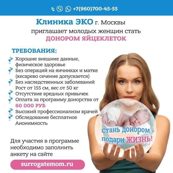 Донорские программы эко - цена в москве   медицинский центр «за рождение»