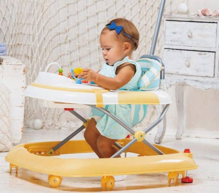 Когда и с какого возраста можно сажать ребёнка в ходунки?