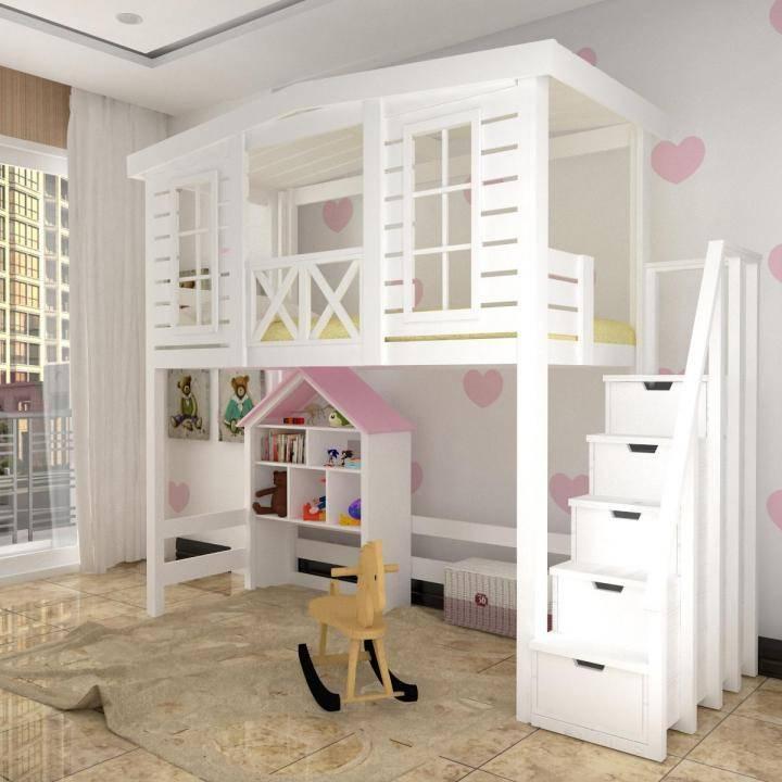 Кровать-домик: 50+ фото в интерьере, идеи для детской девочки или мальчика