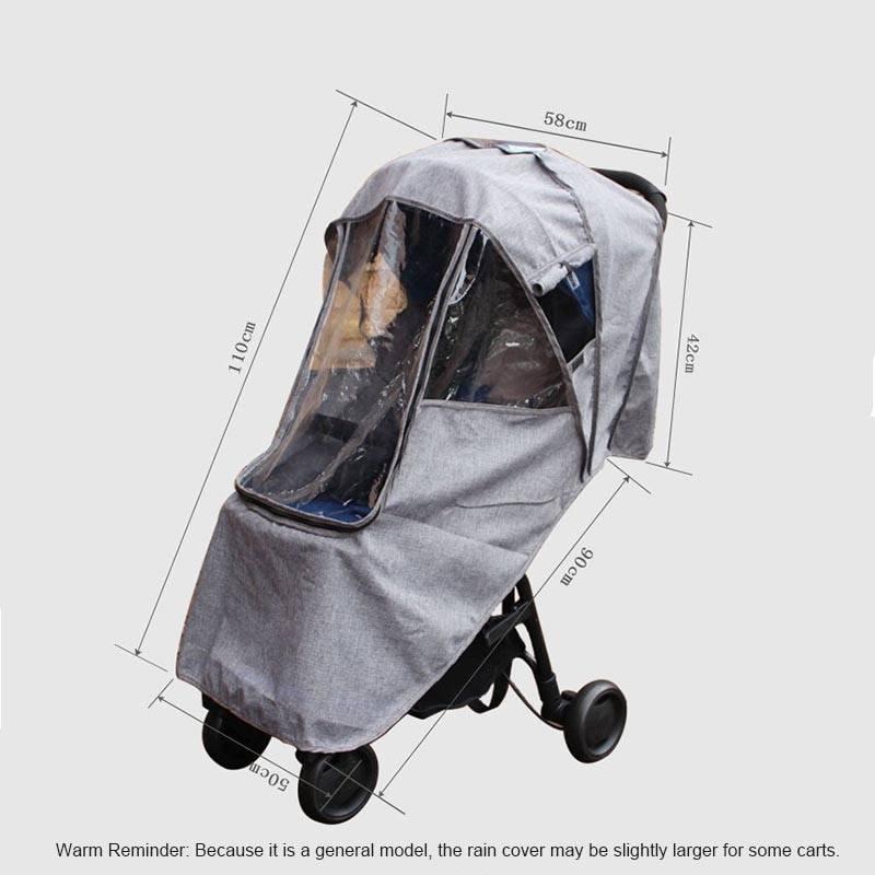 Дождевик на прогулочную коляску: модели аксессуара