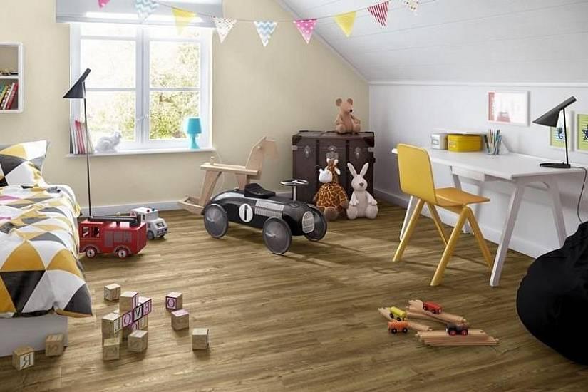 Ламинат в детскую комнату – практично и удобно