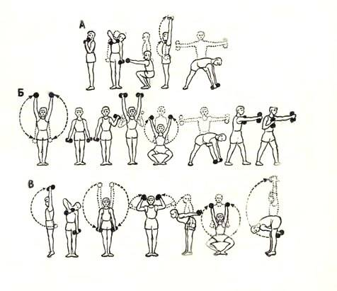 Упражнения с гантелями для детей 10 лет в домашних условиях   похудение тут