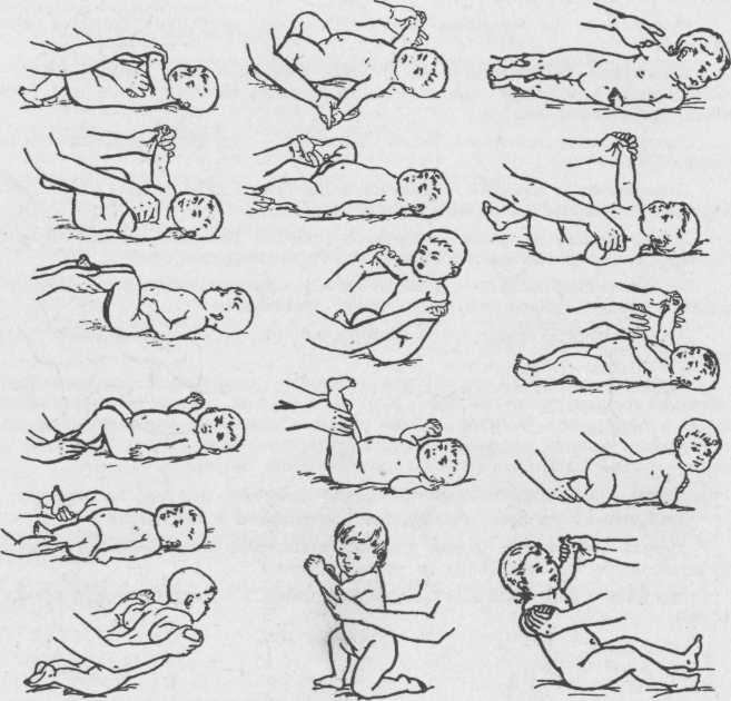Как делать массаж ребенку 9-12 месяцев?