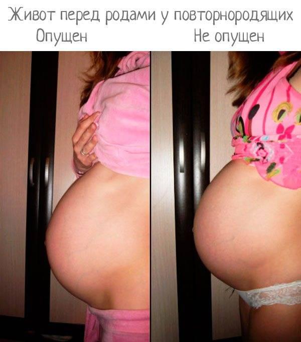 Когда рожать, если уже опустился живот? |  эко-блог