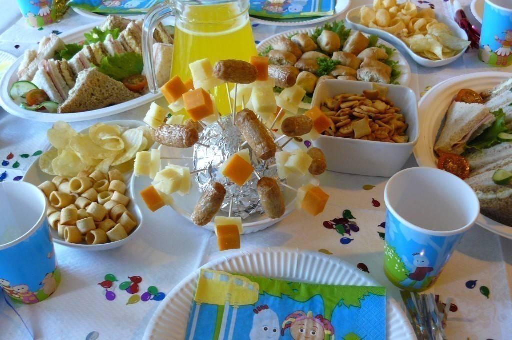 Меню на детский день рождения 7, 8, 9 лет (36 фото): стол дома или на природе