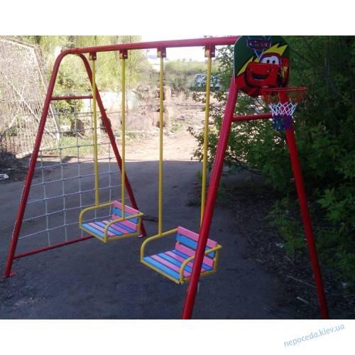 Детские уличные качели для дачи (87 фото): двухместные подвесные и металлические круглые дачные и садовые варианты для детей