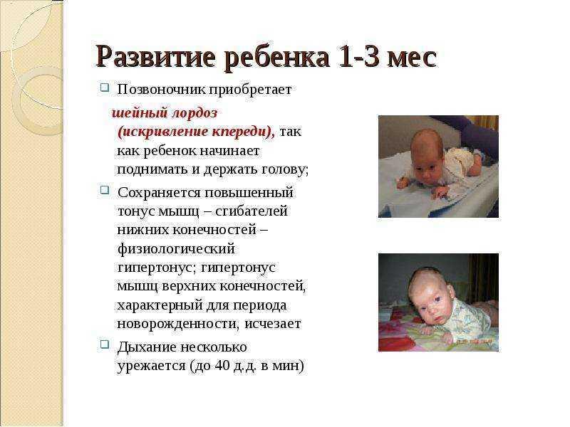 Со скольки месяцев ребенок начинает держать голову