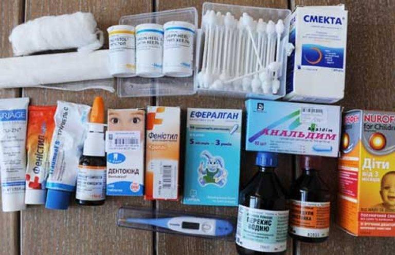 Аптечка для ребенка на море, в дорогу, в лагерь