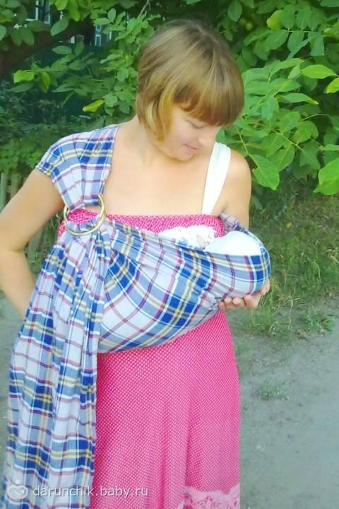 Слинг своими руками для новорожденного: как сделать (сшить)