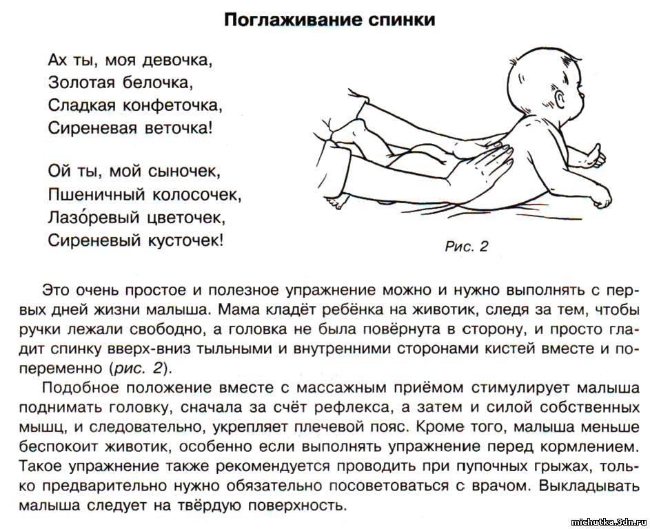 Как выкладывать на животик новорожденного