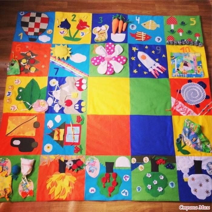 Как сделать развивающий коврик для детей от 0 до 3 лет своими руками