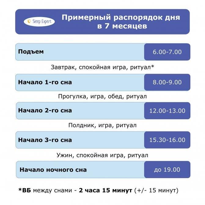 Примерный режим дня ребенка в 8 месяцев таблица по часам на грудном, искусственном вскармливании    семья и мама