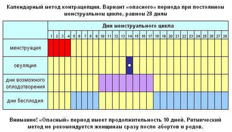 Календарь овуляции - рассчитываем для зачатия