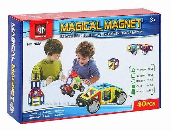 Magical magnet: детский магнитный развивающий конструктор на 40, 98 деталей и mini, отзывы и цена