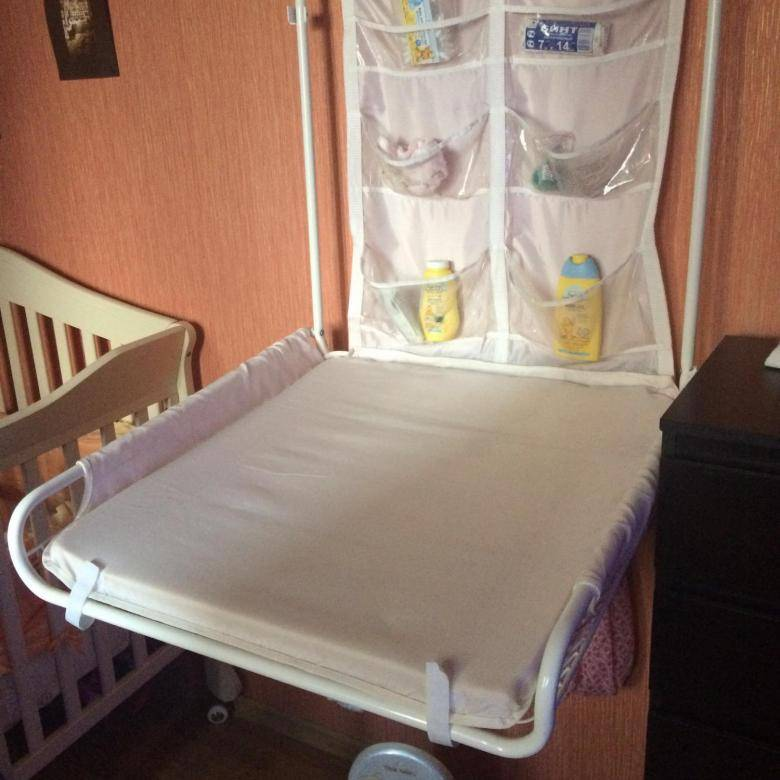 Пеленальный столик для новорожденных (53 фото): размеры стола, переносные, складные, подвесные варианты. до какого возраста нужен детский пеленальный стол?
