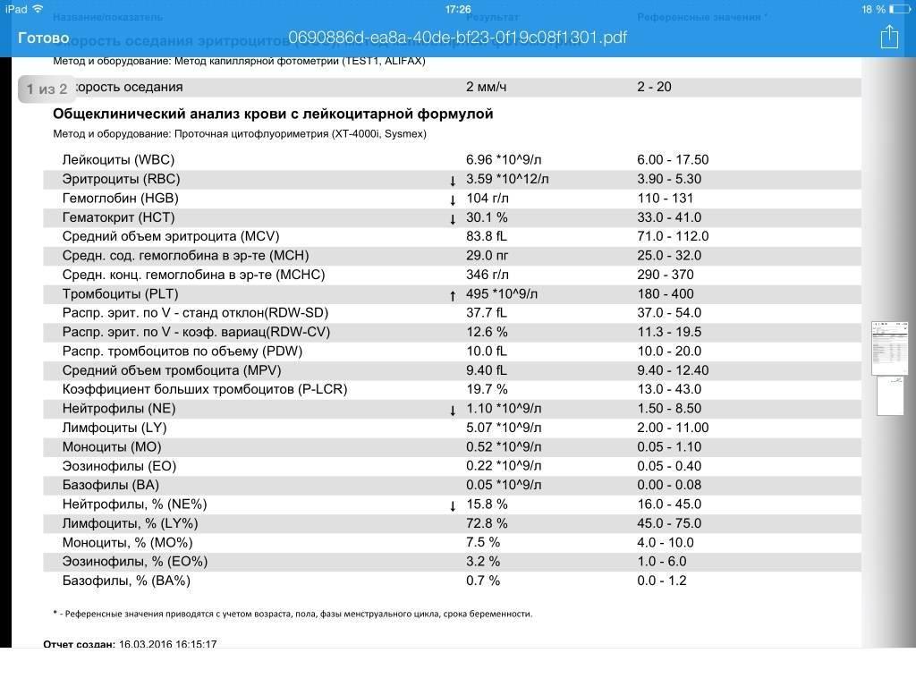 Общий анализ крови (без лейкоцитарной формулы и соэ)