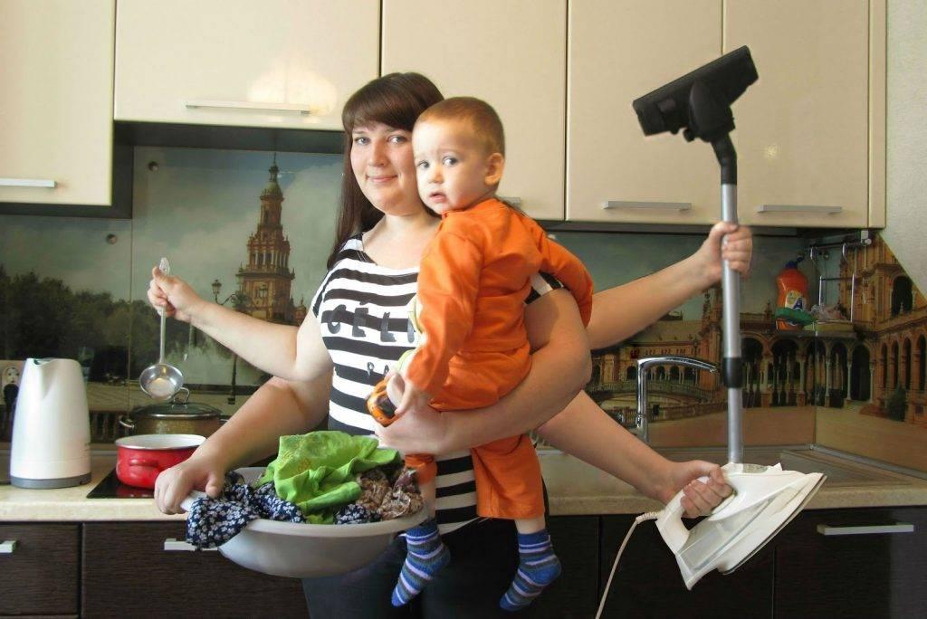 Я одна дома с ребенком. как справиться с домашними делами без помощи родных. составляем план: как успеть сделать домашние дела с малышом на руках