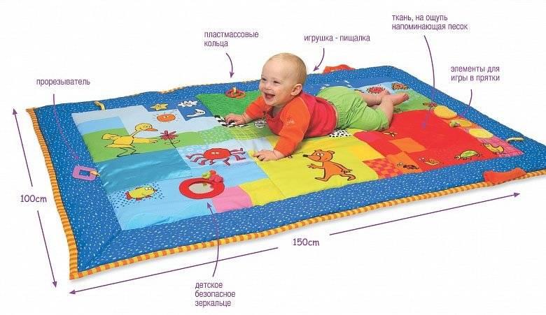 Развивающие коврики для малышей: какие бывают? с какого возраста развивающий коврик