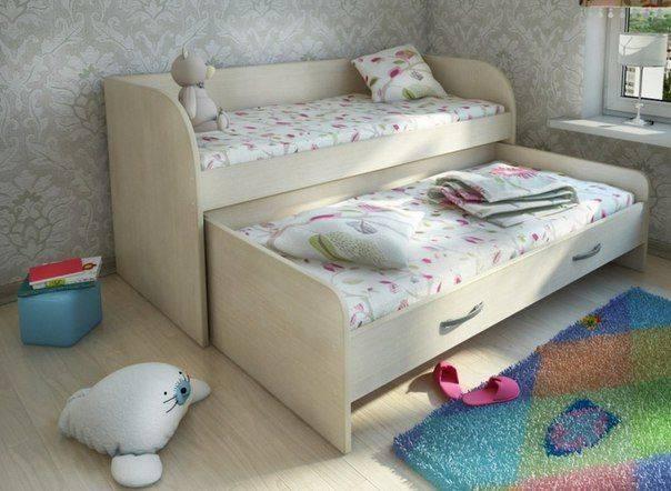 Выдвижная кровать для двоих детей | правила выбра