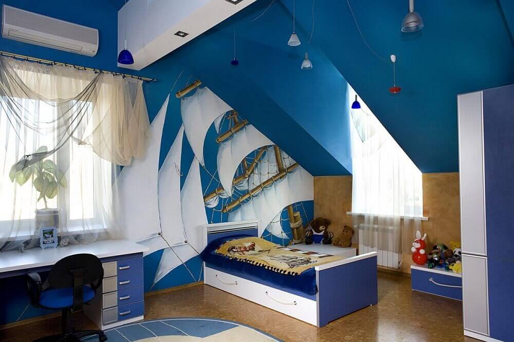 Детская в морском стиле - 35 лучших идей для мальчиков и девочек (фото)