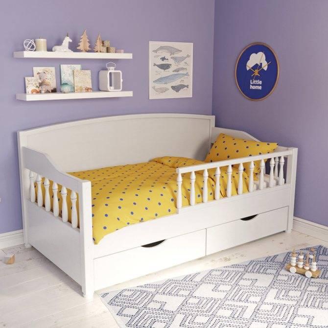 Подростковая кровать с бортиками: детские кроватки с ящиками медео и карина