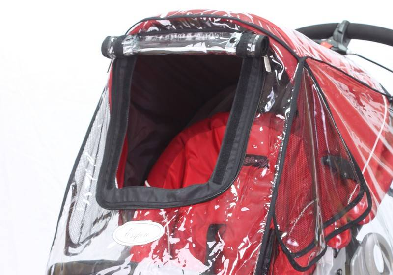 Как правильно одеть дождевик на коляску