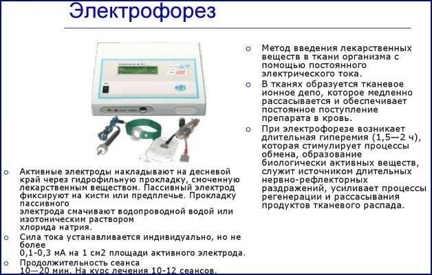 Электрофорез ушей/носа/горла при лечении лор-заболеваний у детей