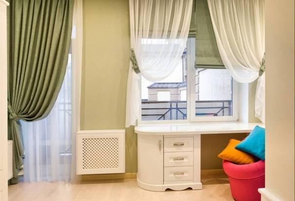 Короткие шторы в интерьере детской комнаты