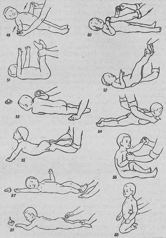 Гимнастика для ребенка 7 месяцев – помощь в укреплении опорно-двигательного аппарата
