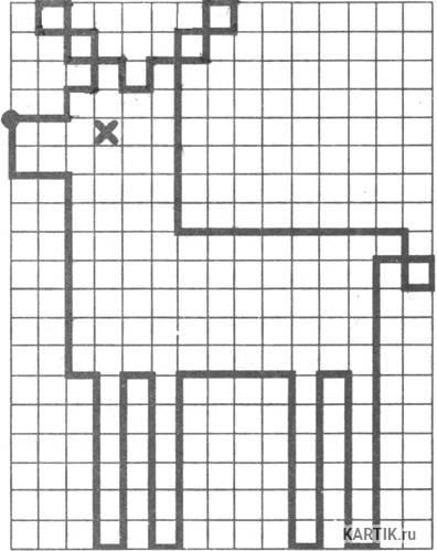Графический диктант по клеточкам для 3-4 класса: сложные диктанты по клеткам для школьников
