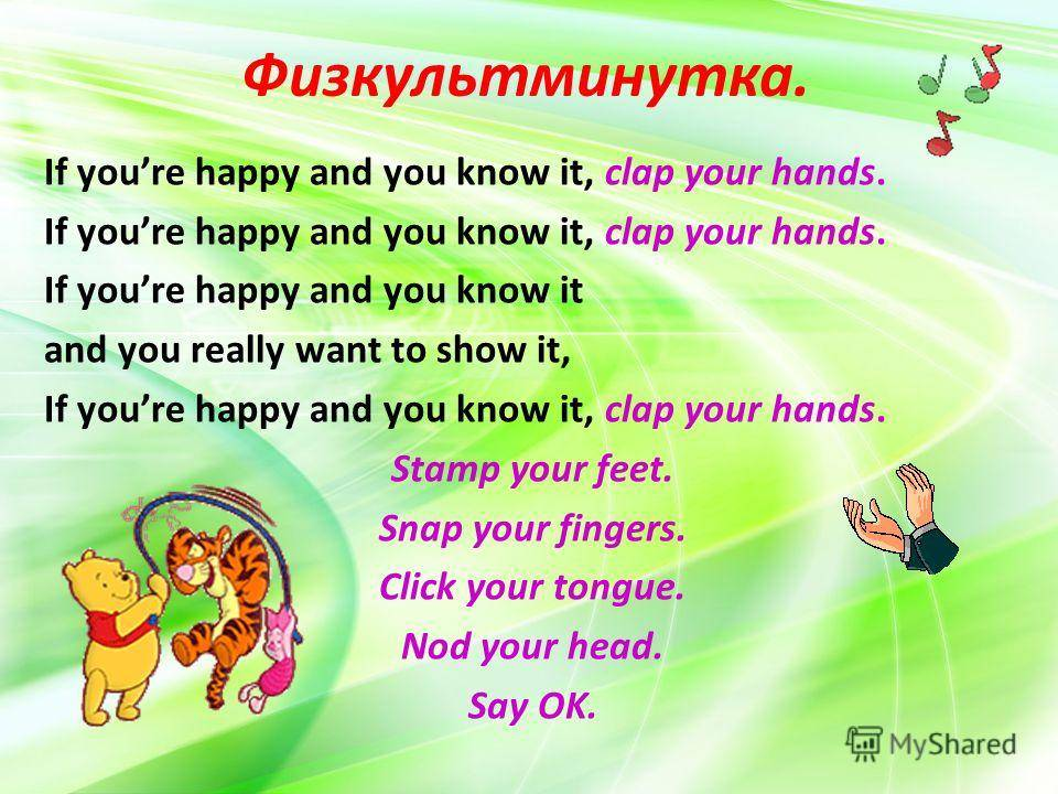 English for kids  if you are happy and you know it