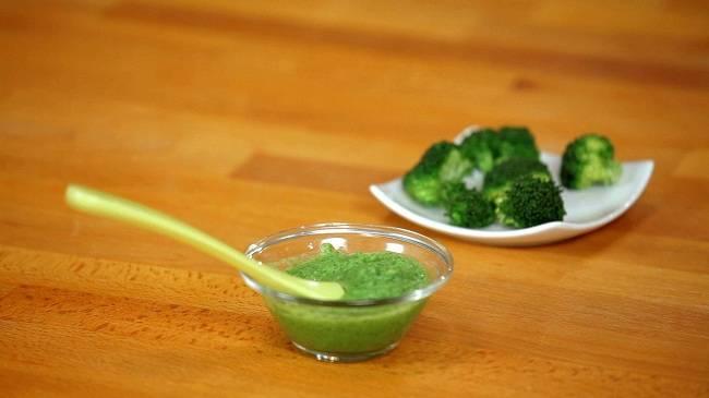 Пюре из брокколи для грудничка: рецепт
