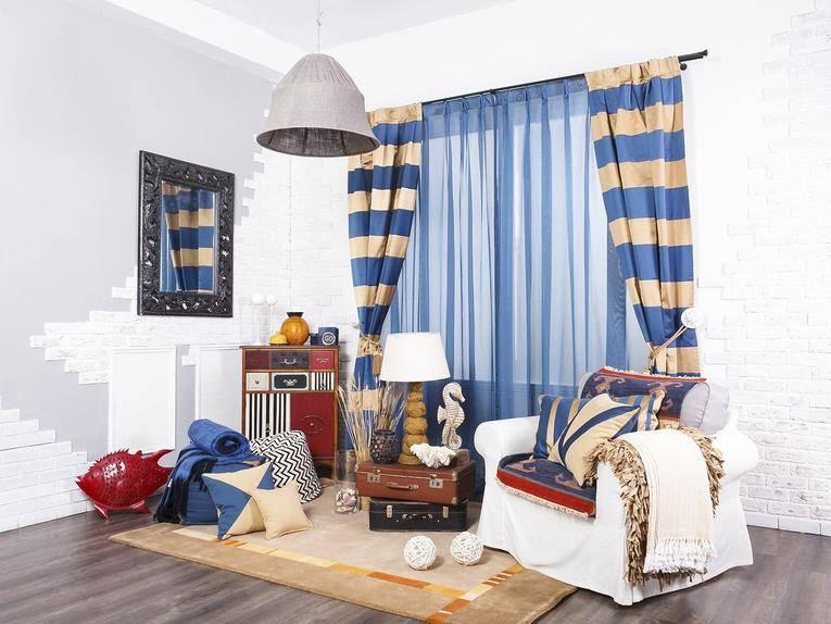Выбор штор для детской комнаты в морском стиле - шторы