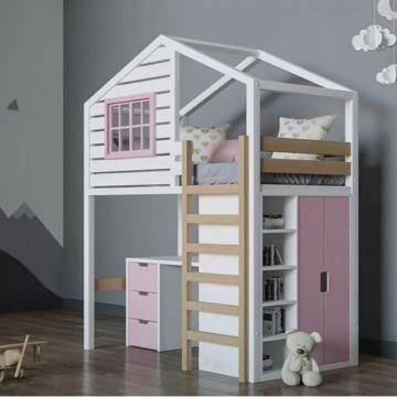 Кровать-домик в детской комнате: фото, варианты дизайна, цвета, стили, декор