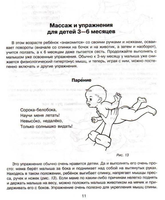 Динамическая гимнастика для грудничков с первых месяцев жизни
