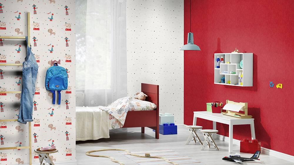 Детские обои rasch: модели для раскрашивания bambino в интерьере детской комнаты