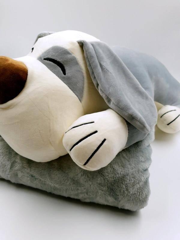 Игрушки-подушки: мягкие детские подушки с пледом 3 в 1, длинные и большие подушки для сна, в виде коровы и собаки корги, плюшевые и другие