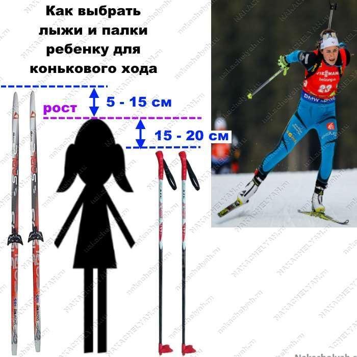 Как выбрать лыжи ребенку: таблица размеров