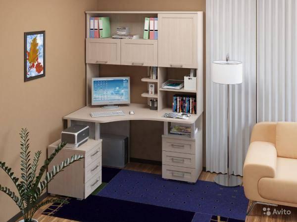 Угловой письменный стол для двоих детей (32 фото): размеры компьютерных детских парт