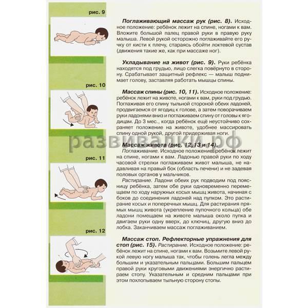 Массаж ребенку в 9-12 месяцев
