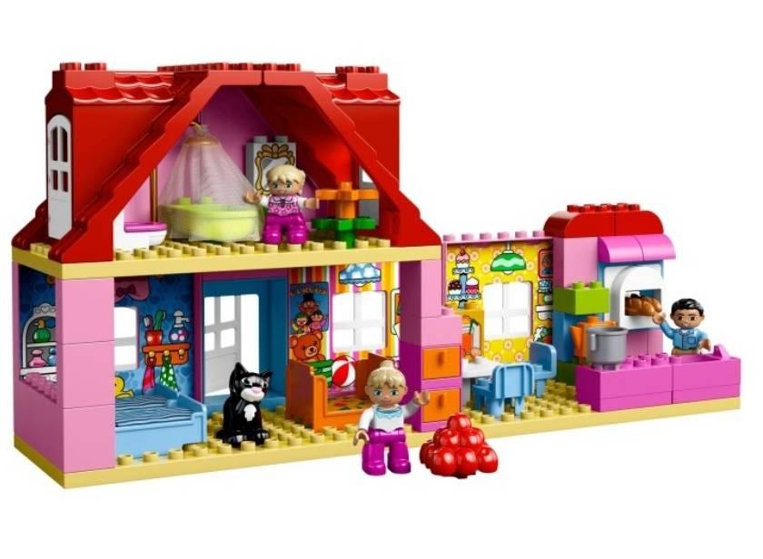 Лего дупло кукольный домик: lego duplo 10505 конструктор, для девочек 2-5 лет