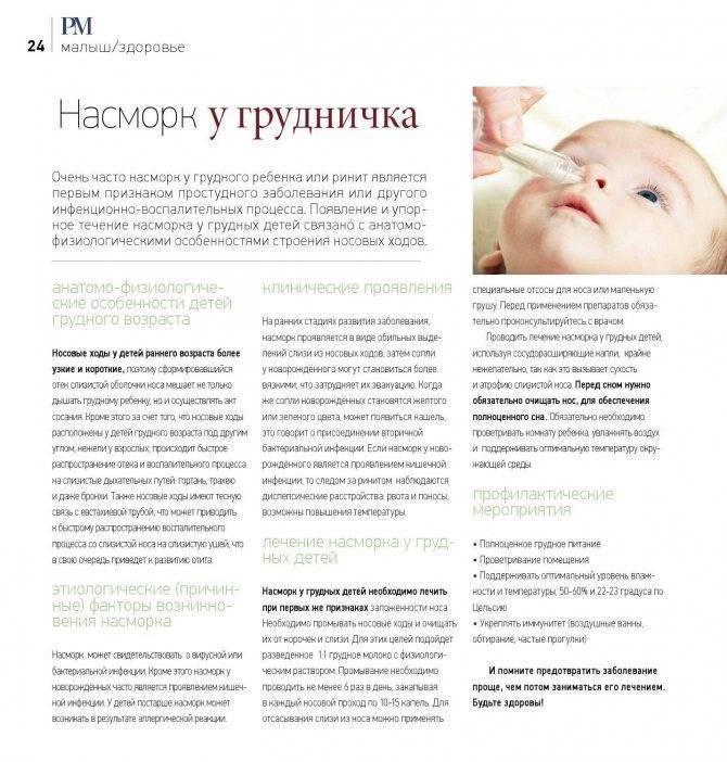 Симптомы и лечение физиологического насморка у грудничка, сколько он длится