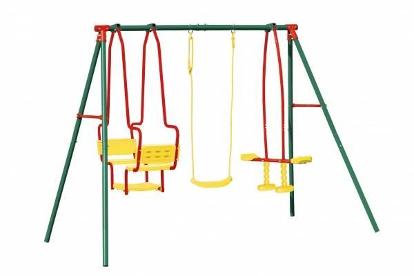 Детские качели двойные для дачи (26 фото): выбираем уличные модели для двойни