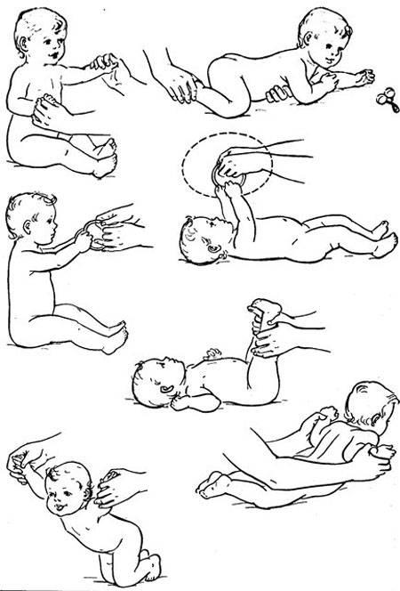 Гимнастика для детей 0-9 месяцев