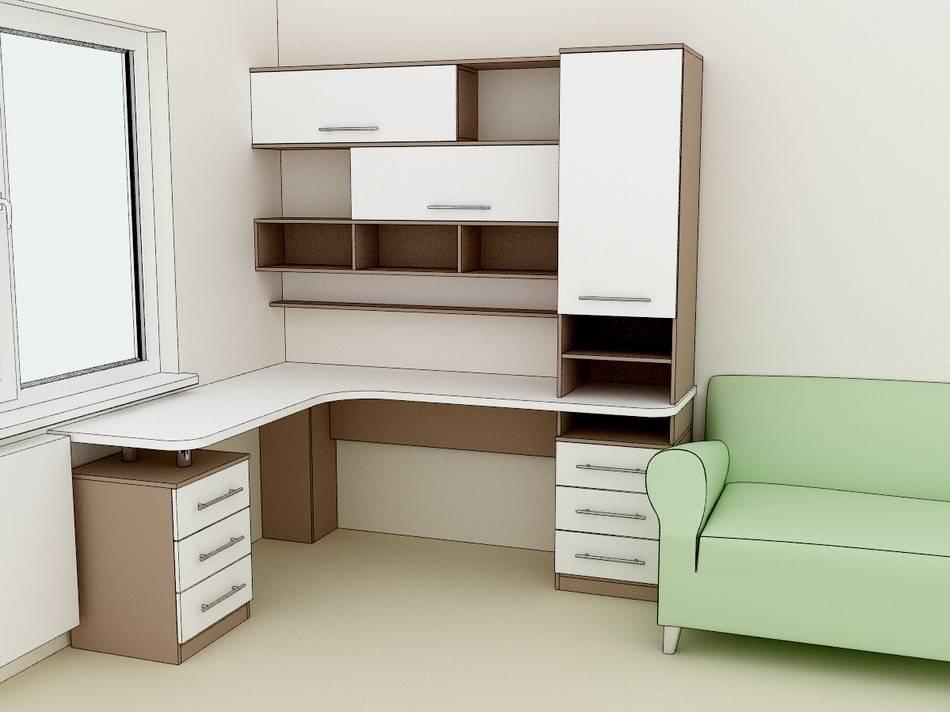 Письменный стол для двоих детей, распространенные конструкции
