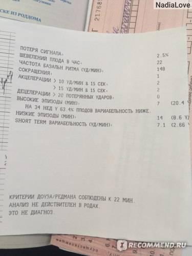 Кардиотокография плода. ктг в клинике «абиа». показания, расшифровка