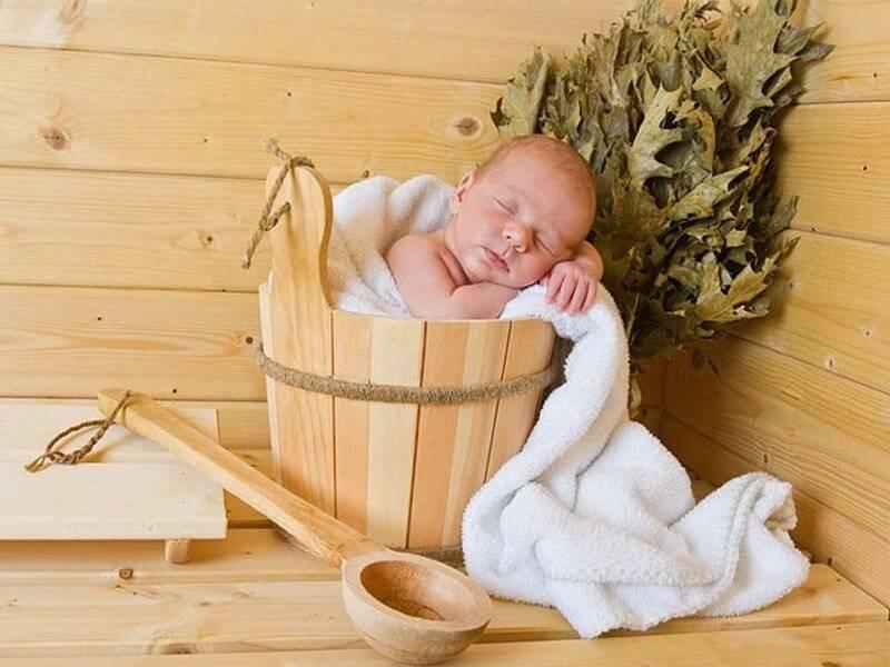 Можно ли ходить с грудничком в баню и когда лучше, как мыть ребенка