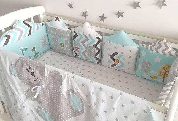 Бортики в кроватку для новорожденных (79 фото): нужны ли борты в круглую кроватку, какие размеры выбрать?